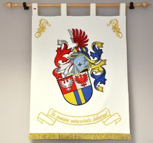 Vyšívaný služební občanský heraldický znak Mgr. Tomáše Pokorného